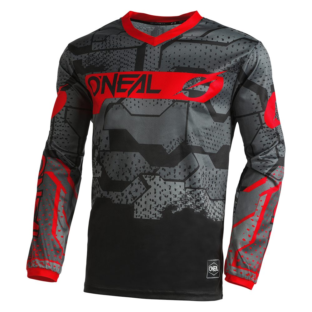 ONEAL Element Youth Camo V.22 MX Kinder Jersey schwarz rot