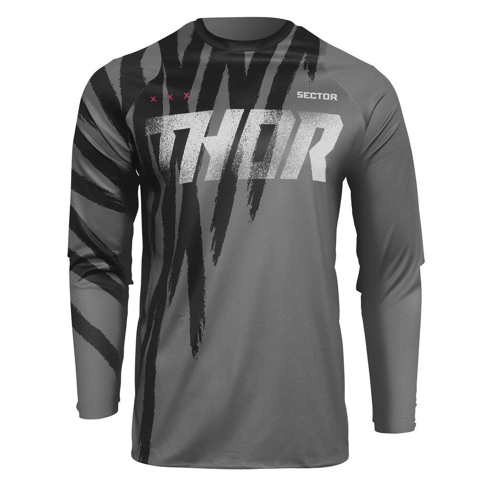 THOR Sector Tear Motocross Jersey grau schwarz