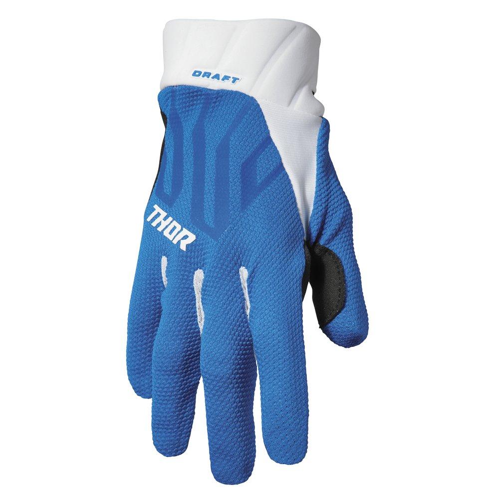 THOR Draft Motocross Handschuhe blau weiss