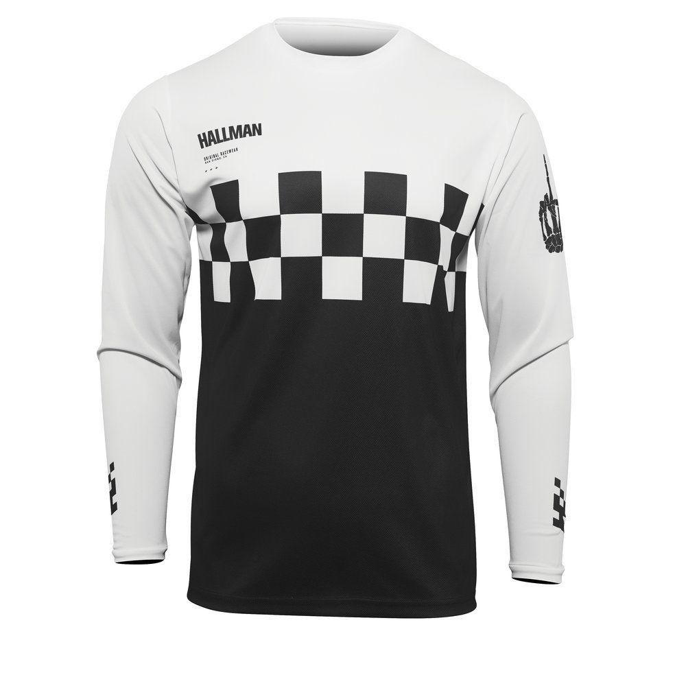 THOR Hallman Differ Check Motocross Jersey schwarz weiss