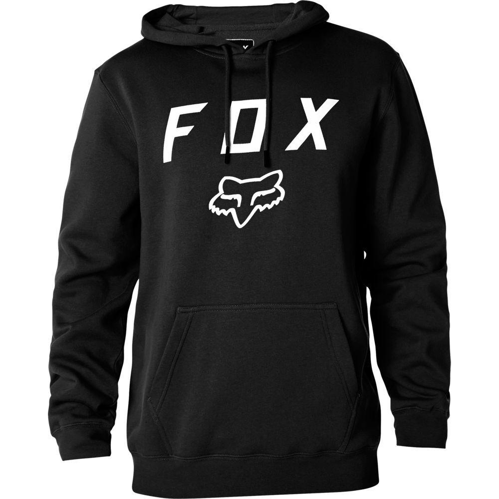 FOX Legacy Moth Po Fleece Hoodie Kapuzen Pullover schwarz