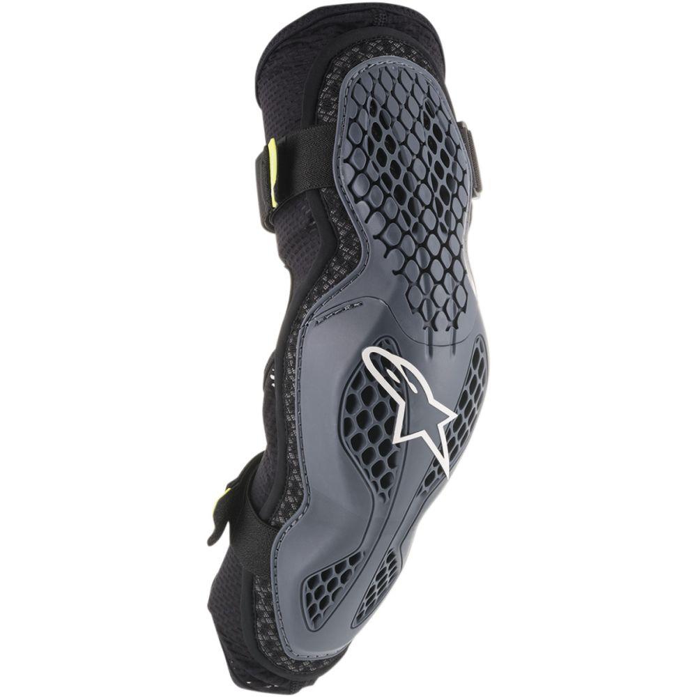 ALPINESTARS Sequence Motocross Ellenbogen Protektoren grau gelb schwarz