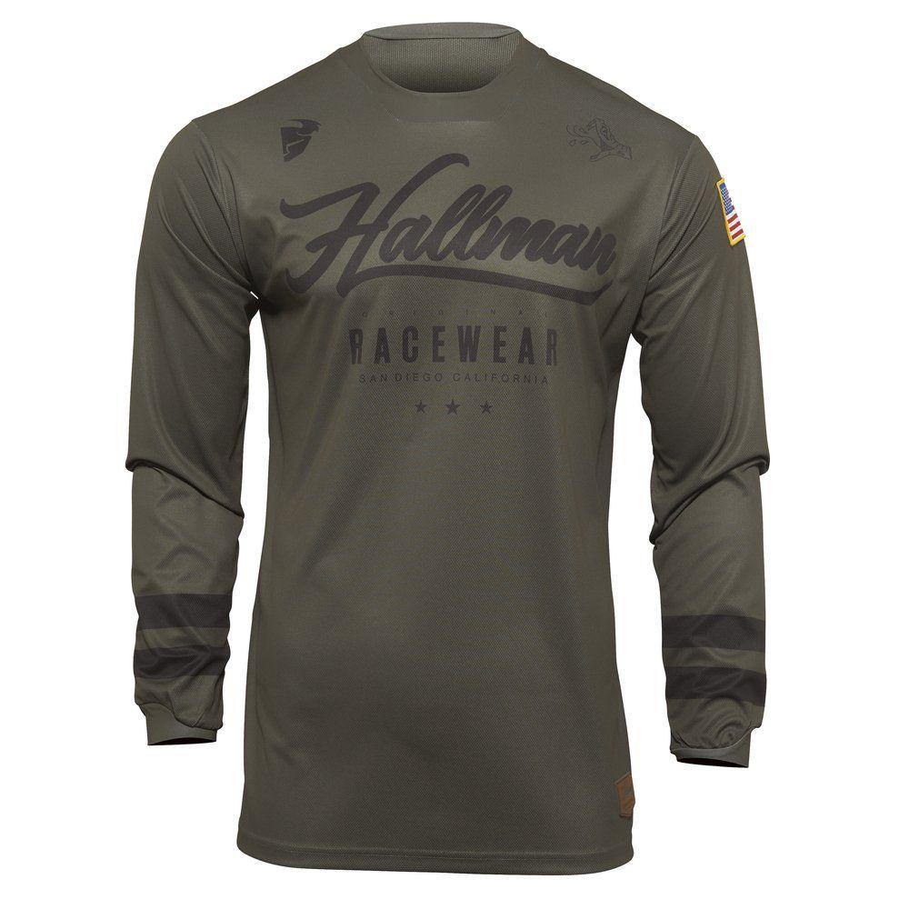 THOR Hallman Hopetown Motocross Jersey army schwarz