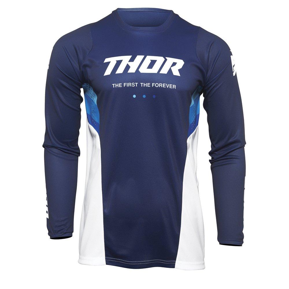 THOR Pulse React Motocross Jersey blau weiss