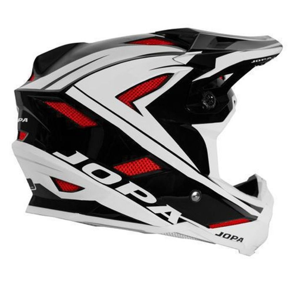JOPA Flash MTB Helm schwarz weiss rot