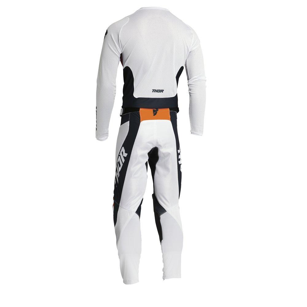 THOR Pulse Air React Motocross Jersey weiss midnight