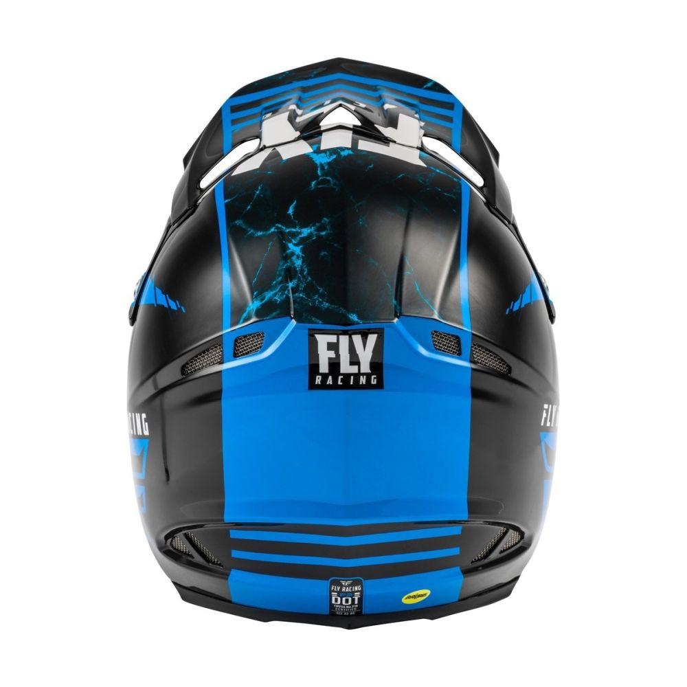 FLY F2 Granit Carbon Motocross Helm blau schwarz weiss