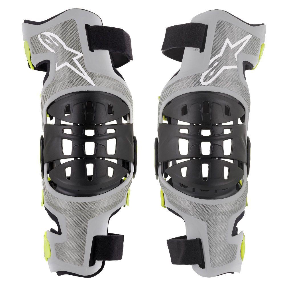ALPINESTARS Bionic 7 Motocross Knieorthesen Set schwarz