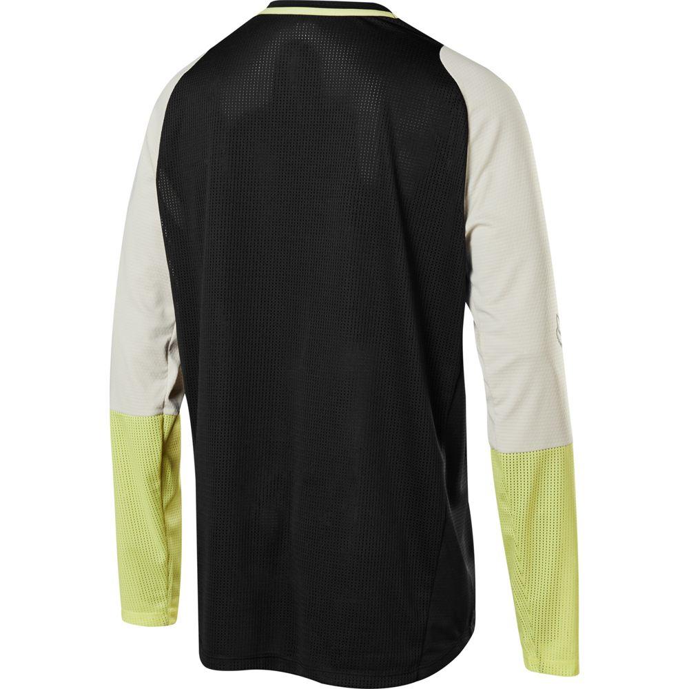 FOX Defend LS Foxhead MTB langärmliges Jersey schwarz gelb