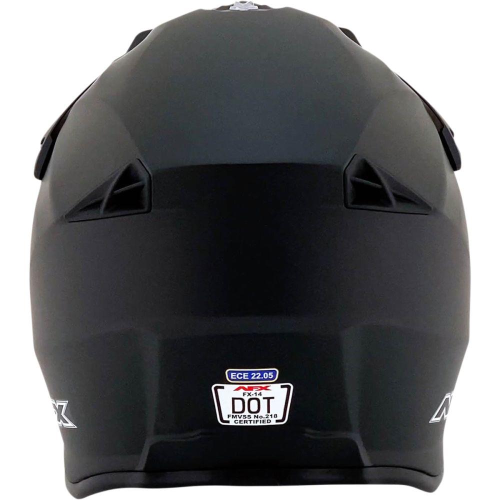 AFX FX-14 Motocross Helm matt schwarz