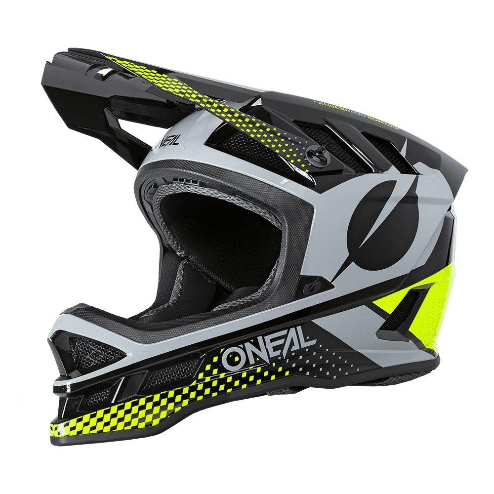 ONEAL Blade Polyacrylite ACE MTB Helm schwarz gelb grau