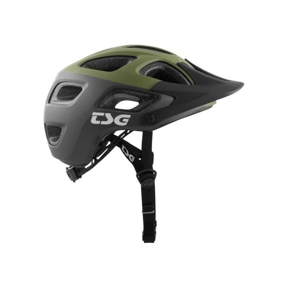 TSG Seek Graphic Design MTB Helm block march olive