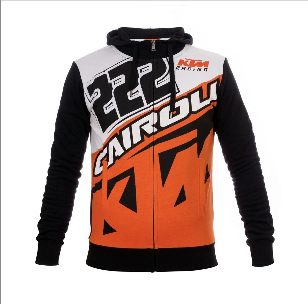 VR46 Toni Cairoli Zip-Hoodie Fleece weiss schwarz orange
