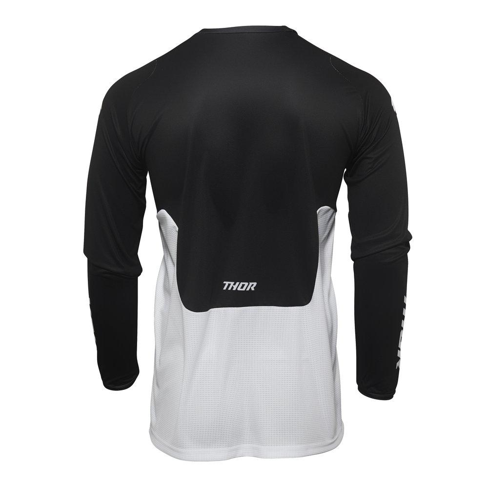THOR Pulse React Motocross Jersey weiss schwarz