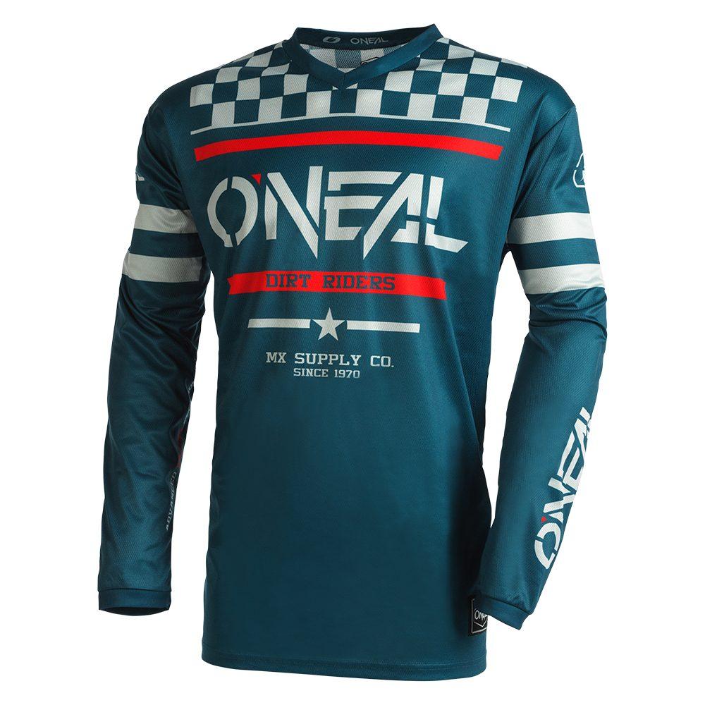 ONEAL Element Squadron V.22 MX Jersey blau grau