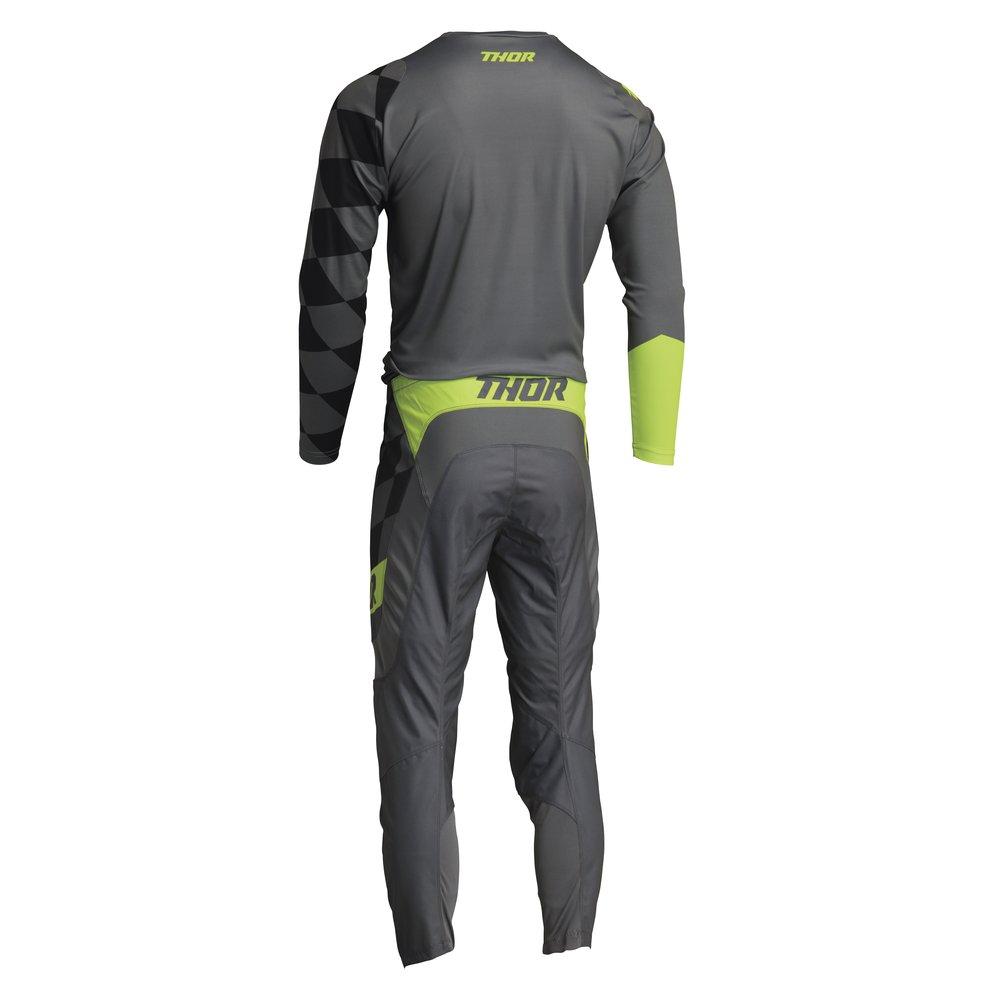 THOR Sector Birdrock Motocross Jersey grau gelb