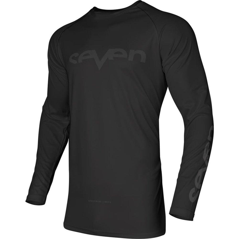 SEVEN Vox Staple Motocross Jersey schwarz