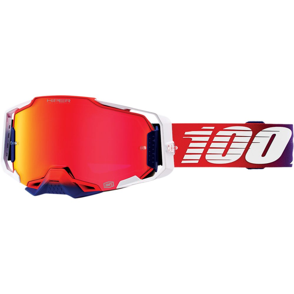 100% Armega Factory Hiper MX MTB Brille rot verspiegelt