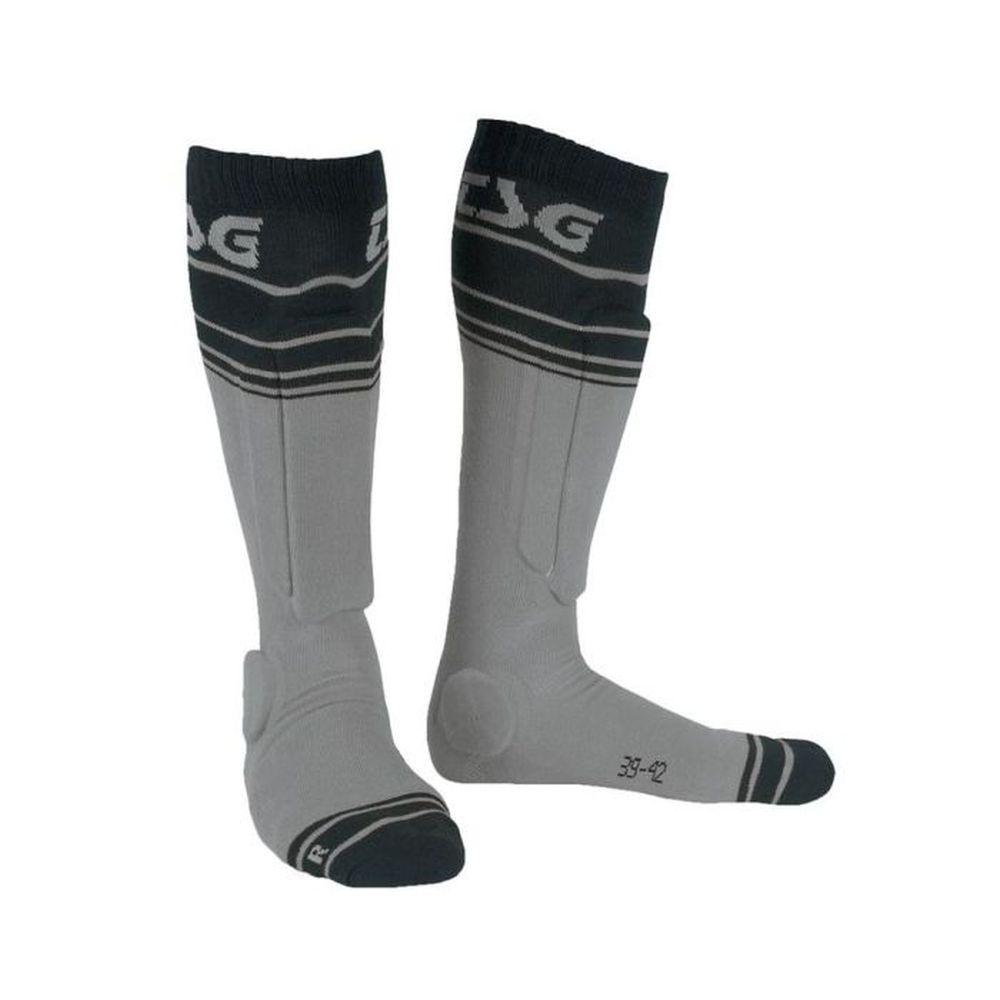 TSG Riot Socken mit MTB Protektoren grau striped