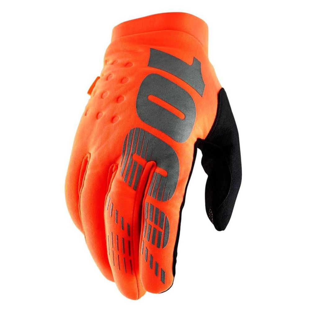 100% Brisker MX MTB Handschuhe orange schwarz