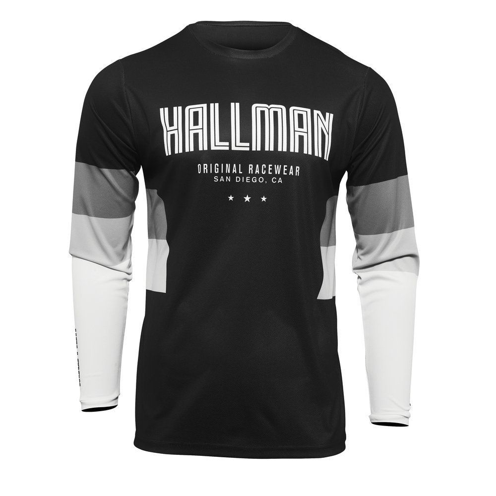 THOR Hallman Differ Drift  Motocross Jersey schwarz weiss