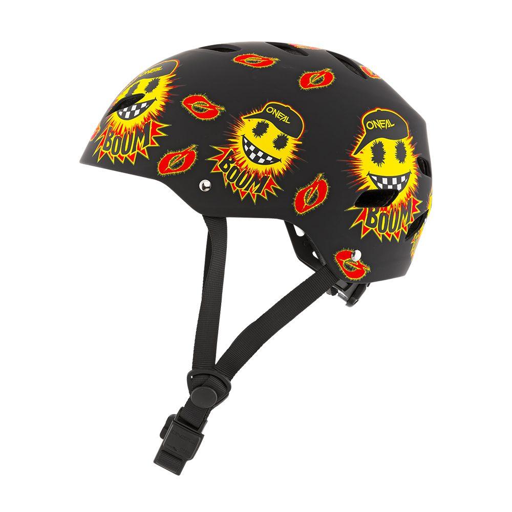 ONEAL Dirt Lid Youth Emoji MTB Kinder Helm schwarz gelb